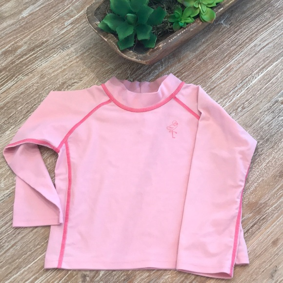 I-Play Baby Long Sleeve Rashguard Shirt 12 Months Light Pink